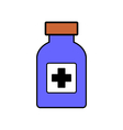 Medicine bottle on white vector image vector image