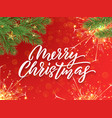 merry christmas calligraphy lettering and xmas vector image vector image