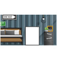 mock up poster frame in bedroom vector image