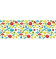 multicolored plastic bricks seamless vector image vector image