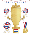 netherlands football trophy vector image vector image