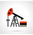 Oil extraction flat icon vector image vector image