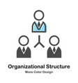 organizational structure mono color vector image