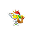 santa with gift lamp icon cartoon on white vector image vector image