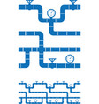 seamless piping border vector image