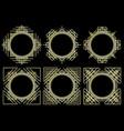 set of stylish retro frames vector image
