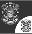 skateboarding skull emblem vector image vector image