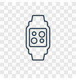smartwatch concept linear icon isolated on vector image