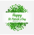 st patricks day background with clover leaves vector image vector image