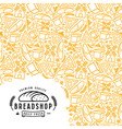 Stock bakery cover for package vector image vector image
