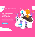 success teamwork concept landing web page vector image