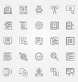 survey icons set checklist to do list vector image