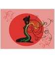 tattoo of green dragon vector image vector image