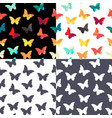 butterfly seamless simple pattern background set vector image