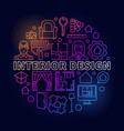 colorful interior design vector image