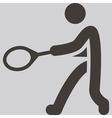 tennis icon vector image