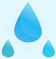 Blue water drops vector image