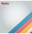 Abstract retro stripe background vector image vector image