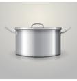 aluminum saucepan vector image