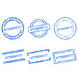 authentic stamps vector image vector image