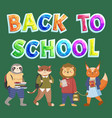 back to school concept colorful banner vector image vector image