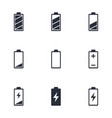 battery life icon set battery charge indicator vector image vector image