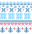 Beautiful seamless Norway pattern vector image vector image