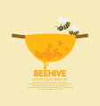 Beehive With Bees vector image