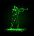 biathlon winter sport girl shooting vector image vector image