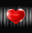 big red heart on a black background celebration vector image