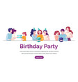birthday party banner template happy vector image vector image