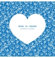 blue white lineart plants heart silhouette pattern vector image vector image