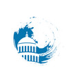 capitol building usa icon design template vector image vector image
