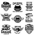 car repair garage auto service emblems design vector image vector image