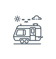 caravan icon isolated on white background outline