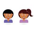 children cartoon happy vector image vector image