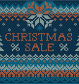 Christmas Sale Scandinavian style seamless knit vector image