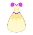 Cinderella dress icon cartoon style vector image