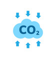 co2 emissions icon carbon gas cloud vector image vector image