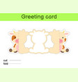 Cute cow fold-a-long greeting card template great