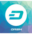 dash blockchain cripto currency logo vector image vector image