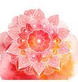 decorative floral mandala vector image vector image