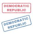 democratic republic textile stamps vector image vector image