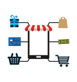 e-commerce icon vector image