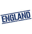 England blue square stamp vector image vector image