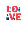 festive background lettering font love vector image