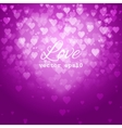 Festive blurred pink background with bokeh vector image