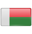 Flags Madagascar in the form of a magnet on vector image vector image