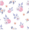 floral seamless pattern with soft pink bouquets vector image