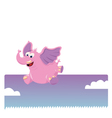 funny jumping elephant vector image